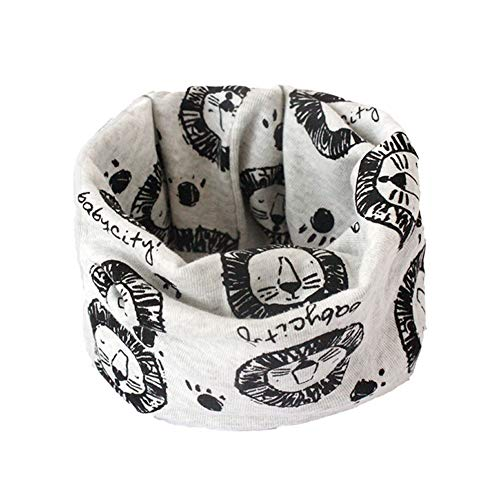 Boomly Bambino Bambini Sciarpa ad anello Sciarpa di cotone Scaldacollo Sciarpe con collo ad anello Sciarpa Bandana Sciarpa per bambini da 0 a 3 anni (#6, 40 * 20CM)
