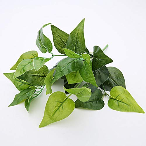 Jkfui Fahige Kunstmatige planten groen geld plant blad echte touch simulatie groene radijsjes planten bouquet Green Wall Shop Decoratie