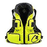 WANGT Chalecos salvavidas, chaleco de flotabilidad para adultos, para natación, navegación, pesca, kayak, chaleco salvavidas, chaleco salvavidas, amarillo, XXL