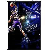 FILWS Kobe Bryant LA Lakers NBA Postertion Art Silk Poster Wallpaper Collection of GIF Anime Poster Decoración del Hogar 60x90cm