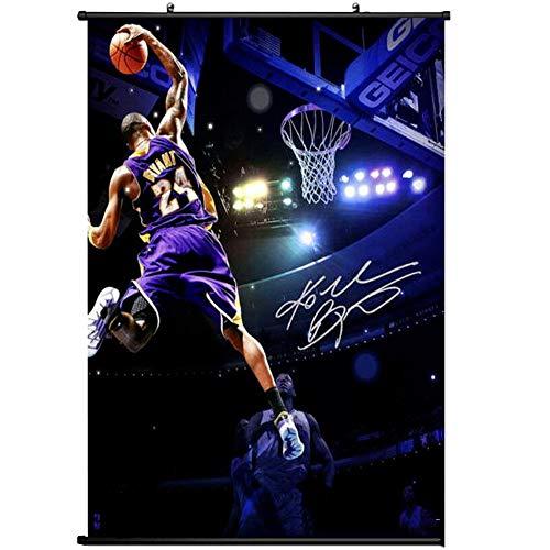 FILWS Kobe Bryant LA Lakers NBA Postertion Arte Seta Poster Carta da Parati Collezione di Gif Anime Poster Decorazione Domestica 60x90cm