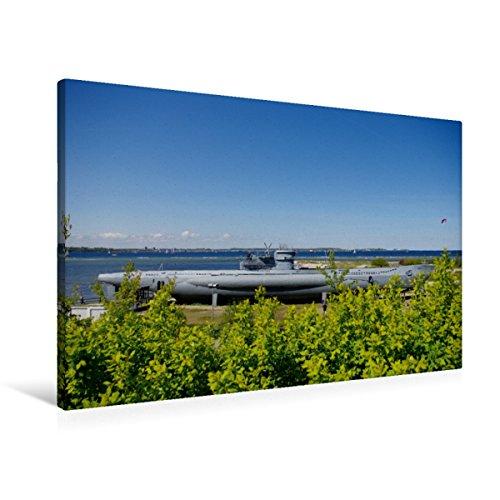 Premium Textil-Leinwand 90 x 60 cm Quer-Format U-Boot von Laboe | Wandbild, HD-Bild auf Keilrahmen, Fertigbild auf hochwertigem Vlies, Leinwanddruck von Tanja Riedel