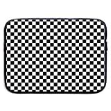 Laptop Sleeve Case Art Abstract,Black and White Checkered Protective Bag for 15 Inch Surface Laptop/Notebook/Acer/Asus/Dell/Lenovo/iPad/Surface Book