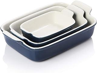 SWEEJAR Porcelain Bakeware Set for Cooking, Ceramic Rectangular baking dish Lasagna Pans for Casserole Dish, Cake Dinner, ...