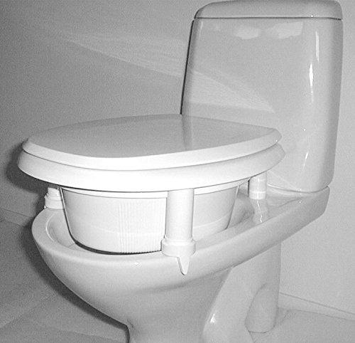 KAN WC Sitz Erhöhung | Aufsteckbare Toilettensitzerhöhung | Verschiedene Höhen auswählbar | Qualitätsprodukt Made in Sweden | Farbe weiss (125 mm)