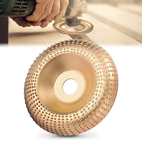 Holz Winkelschleifscheibe Schleifen Disc Carving Tool, Wolfram Stahl, Holzraspel für Winkelschleifer,3,3 Zoll/85mm, 3,9 Zoll/100mm
