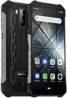"teléfono moviles Resistentes(2019), Ulefone Armor X3 con Modo Submarino, Android 9.0 5.5 ""IP68 Impermeable móvil Trabajo, Dual SIM, 2GB + 32GB, 5000mAh Batería, Desbloqueo Facial GPS Plata"