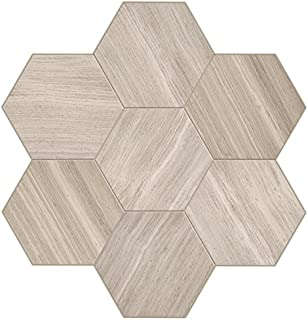 Dal-Tile L1912HEXMS1U Limestone Tile x 11-5/8, Chenille White Hex Mosaic Honed
