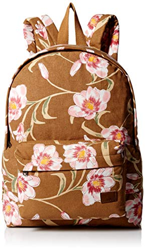 Roxy Women's Sugay Baby Canvas Backpack, chipmunk SURFIN love, 1SZ