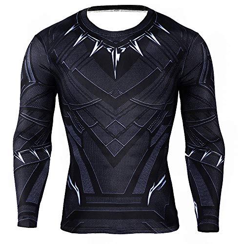 HOOLAZA Black Panther Hombres Camiseta...