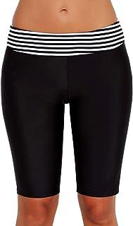 Lau's Shorts de Baño Mujer Pantalones Bañador Deportivo Short de Playa Pantalones Cortos de Natación