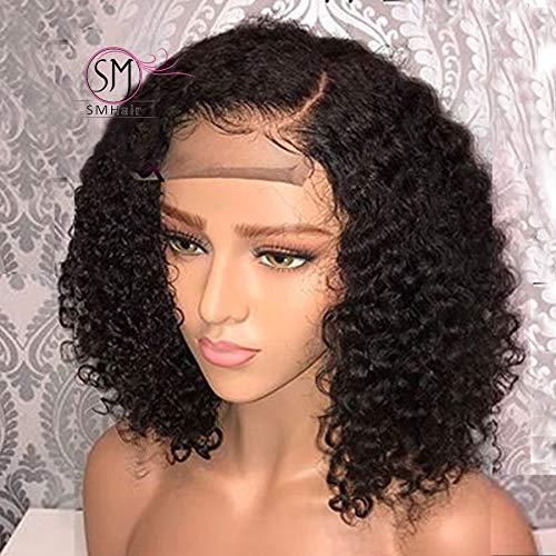 SMHair Lace wig - 360 dentelle frontale perruque frisée humaine perruque brésilienne cheveux humain sans colle brésilienne vierge cheveux pré plumés n