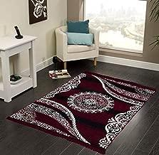 "Vram Velvet Carpet & Area Rug |Drawing Room, Office,Living Room, Hall,Yoga Anti Skid Carpet- |60"" inch x 84"" inch | 150 cm x 210 cm | 5 Feet x 7 Feet | - Maroon"