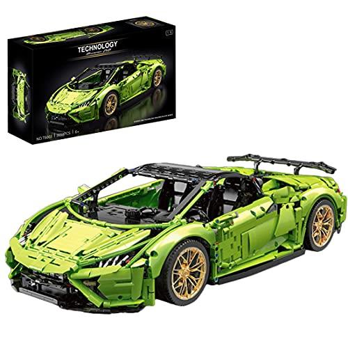 KEAYO Modelo de coche deportivo para Lamborghini Huracán EVO, tecnología de coche grande, con bloques de sujeción, compatible con Lego Technic
