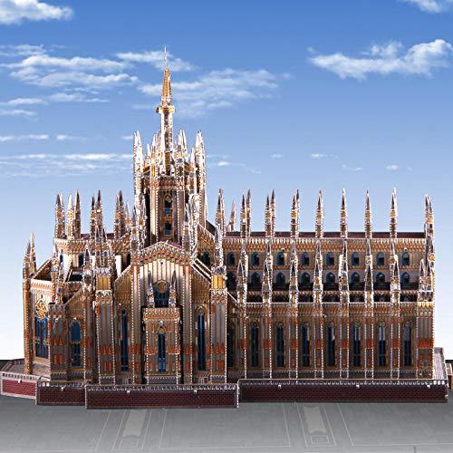 WAWDH Catedral de Milán Rompecabezas 1000 Piezas Adultos Puzzle DIY Niños Clásico Juego Divertido Ensamblaje desafiante Intelectual Arte De La Pared Decoraciones Casuales-50cmx75cm