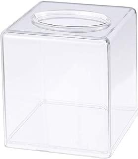 OUNONA Acrylic Square Tissue Case Transparent Tissue Holder Paper Storage Box Craft Home Supplies