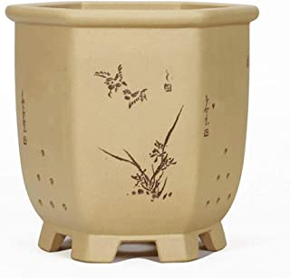 Plant container Clivia Indoor Medium Flower Pot Home Decoration Crafts Garden Planting Ceramic Purple Sand Chinese Style Flower Pot 8 Styles To Choose From Plant dish (Color : E)