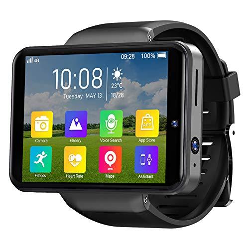 4G Android Relojes Inteligentes, GPS Android 7.1 Smartwatch IP67 Impermeable Deportivo, Reloj para Teléfono con Desbloqueo Facial con Batería De 2000 MAh, 3GB + 32GB Negro