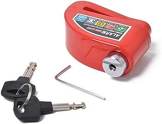 ROWEQPP Motorcycle Electric Car Anti-Theft Disc Brake Lock Electric Bicycle Alarm U Shape Lock Red