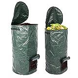 INNOLITES Organic Compost Bag, 2 Pack 15 Gallon / 34 Gallon Garden Compost Bins Environmental Reusable PE Waste Disposal Compost Bags for Kitchen Garden Yard