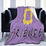 Manta de franela para sofá L.R.D Friends, manta térmica suave y duradera, manta de forro polar