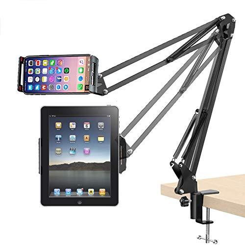 Porta iPad Supporto Telefono Supporto Cellulare Letto con Braccio Regolabile e Rotazione di 360 Gradi Supporta da iPad Samsung Tablet iPhone Huawei Samsung