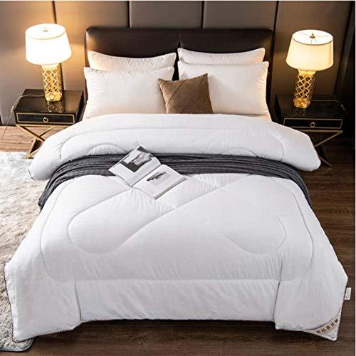 queen twin size chinese silk duvet sanding silk comforter summer winter quilt bedding-white_180X220CM/3KG