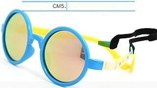 IJEWALRY - Gafas De Sol De Mujer,Gafas De Sol Para Niños Gafas Redondas Polarizadas Niños Niñas Niños Bebé Con Correa Caucho Sin Tornillo Gafas De Sol Con Bisagra Extraíble De Silicona Tr90 Para Deportes A