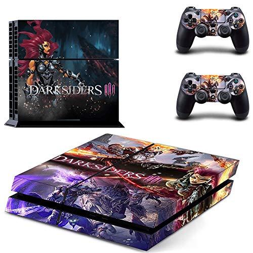 FENGLING Spiel Darksiders 3 Ps4 Skin Sticker Aufkleber für Playstation 4 Konsole und 2 Controller Skin Ps4 Sticker Vinyl