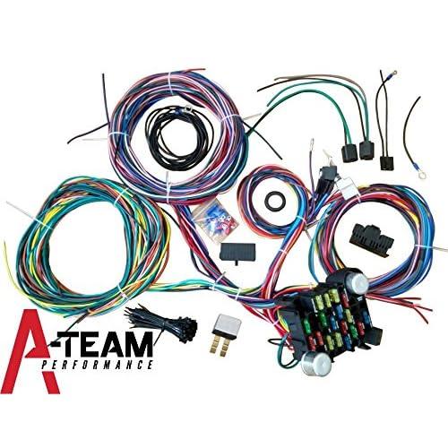 a-team performance 21 standard circuit universal wiring harness kit muscle  car hot rod xl