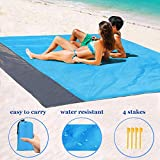 FuJiang Beach Blanket Sandless Extra Large Beach Mat, Waterproof...