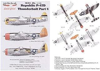 Lifelike 1/48 Scale Decals for Republic P-47D Thunderbolt Pt 4 Tamiya & Hasegawa