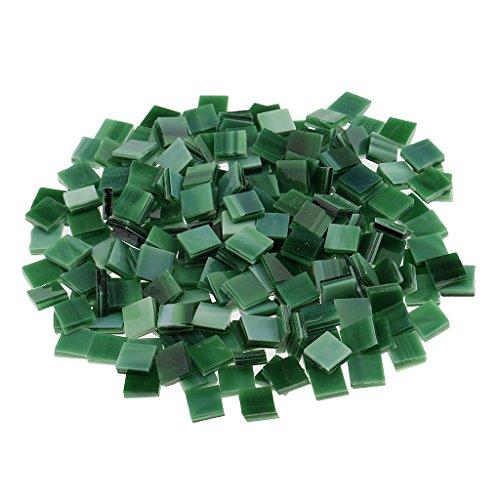250 Stück Fliesen Mosaik Mosaikfliese Quadrat Bad Pool Glas - Grün