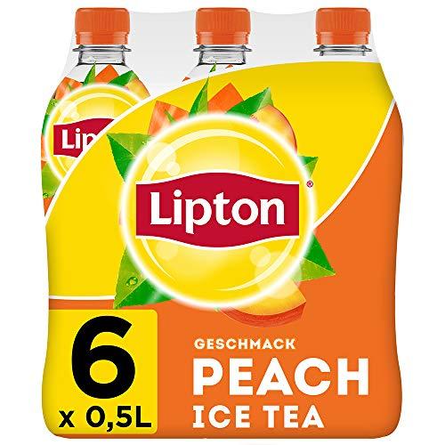 LIPTON ICE TEA Peach, Eistee mit Pfirsich Geschmack (6 x 0.5l)