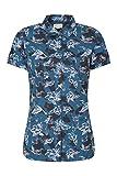 Mountain Warehouse Coconut Camicia delle Donne Corte del Manicotto della Noce - 100% Parte Superiore di Estate delle Signore del Cotone, Peso Leggero, Camicetta Blu Navy 46