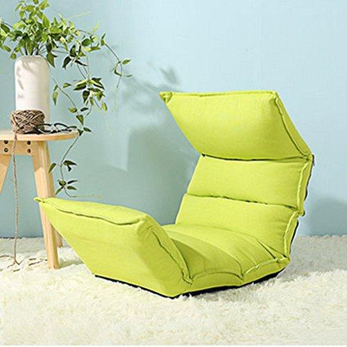 Fu Man Li Trading Company Canapé paresseux simple chambre pliable jumeau avec lit créatif avec fauteuil canapé A+ ( Couleur : Fruit green )