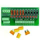 Electronics-Salon Panel Mount 10 Position Power Distribution Fuse Module Board, for AC/DC 5~32V