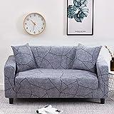 WXQY Funda de sofá elástica con diseño de Flor de melocotón, Funda de sofá con protección para Mascotas, Esquina en Forma de L, Funda de sofá con Todo Incluido, A21, 4 plazas