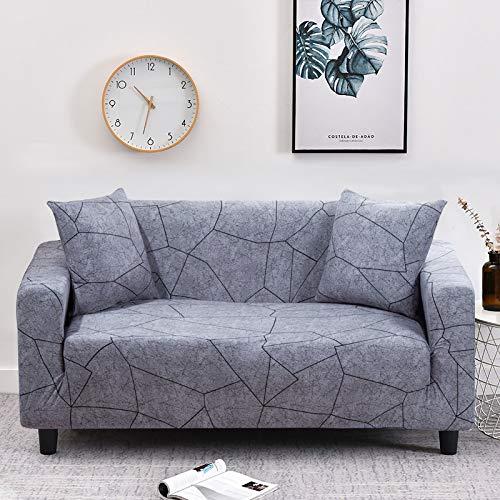WXQY Funda de sofá elástica con patrón de Flor de melocotón, Funda de sofá con protección para Mascotas, Esquina en Forma de L, Funda de sofá con Todo Incluido, A21, 2 plazas