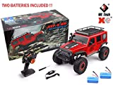 MODELTRONIC Crawler RC Jeep Wrangler SUV WLtoys 104311 Escala 1/10 2.4G tracción 4x4 RTR Color Rojo...