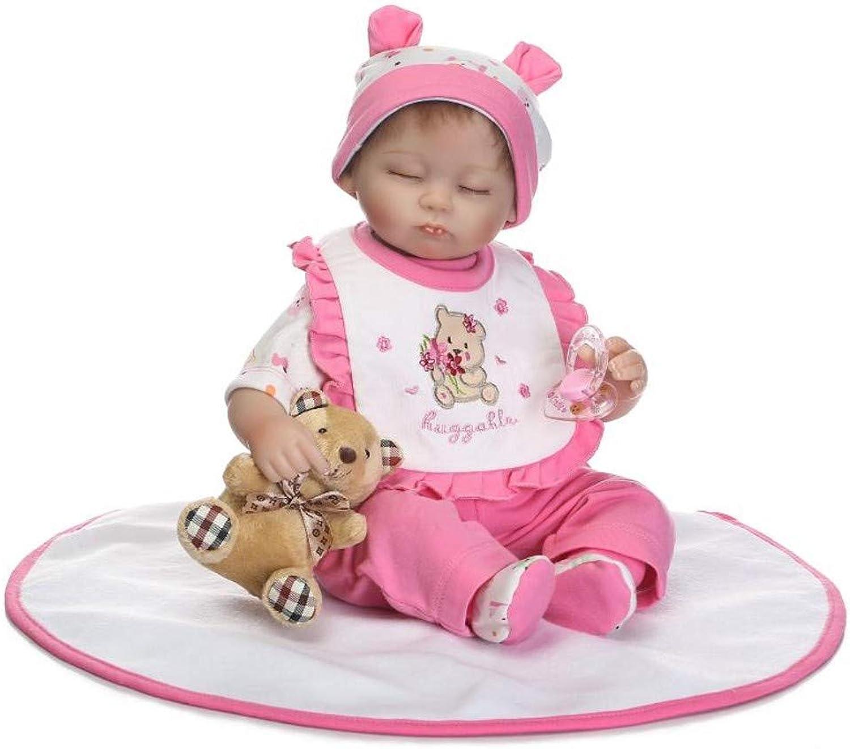 ZIYIUI Doll Simulation Reborn Baby Dolls Soft Simulation Silicone Vinyl Real Touch Newborn Dolls Girls Xmas Birthday Gift Toy 18 inch 45 cm