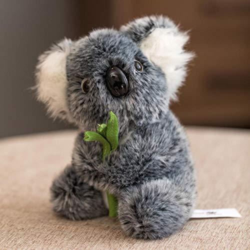 JMKHY Simulation koala doll cute mother and child koala plush toy-15cm_Light_Grey