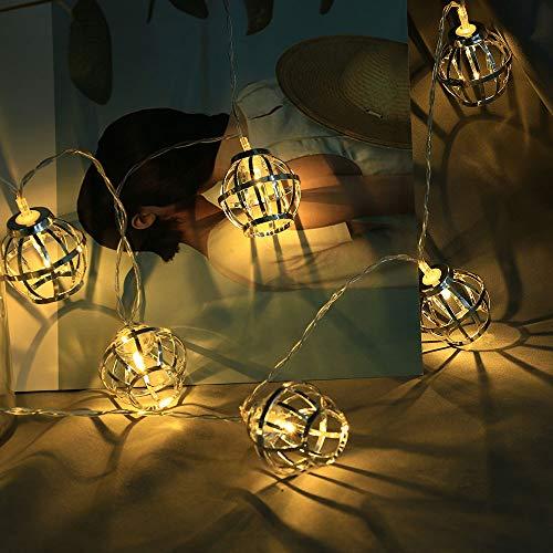 1.5M LED Lichterkette Warmweiß, Dapei Weihnachten 10er LED String Fairy Licht Batteriebetrieben Stimmungsbeleuchtung, Dekoration ideal für Zimmer Halloween Hochzeit Party