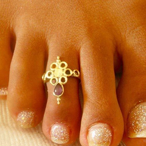 Zehenring für Frauen - Messingzehenring - Verstellbarer Zehenring - Fussring - Fußring - Fußschmuck - Fingerringe - Geschenk fuer Damen -...