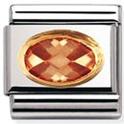 Nomination Comp. Classic Cubic Zirconia FACETTIERT Edelstahl, 18K-Gold () 030601