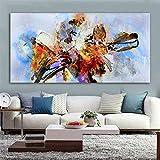 QWESFX Arte Arte abstracto Pintura colorida de la lona Arte de la pared Imágenes para la sala Imagen decorativa Bloque de color (Imprimir sin marco) E 60x120CM