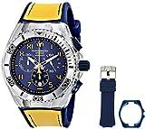 TechnoMarine 114025 Orologio da Polso, Display Display Cronografo, Unisex, Bracciale Silicone, Giallo