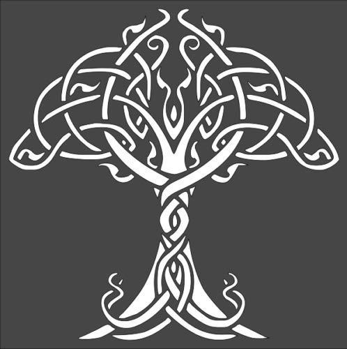 Stencil Big Celtic Tree of Life, Plastic Reusable
