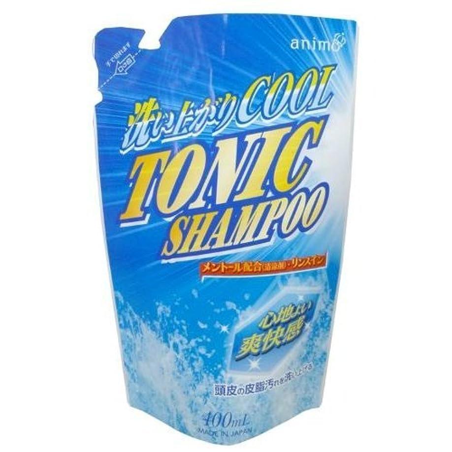 ホステルマウントサイクルロケット石鹸 トニックシャンプー 詰替用 400ml ×5点セット(4571113801403)