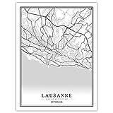 Lonfenner Leinwand Bild,Lausanne Schweiz Abstrakte Farbe